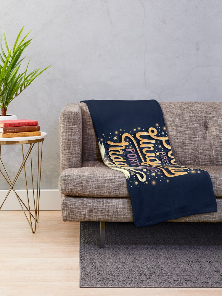 Alternate view of Books are magic Throw Blanket
