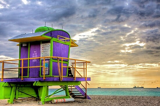 South Beach Lifeguard Stand by Bill Wetmore