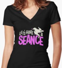 seance ghost Women's Fitted V-Neck T-Shirt