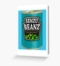 Can O' Senzu Beans Greeting Card