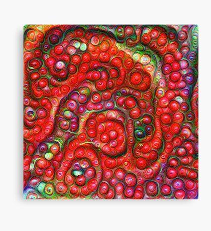 Vaccinium vitis-idaea #DeepDream Canvas Print