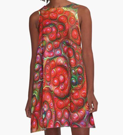 Vaccinium vitis-idaea #DeepDream A-Line Dress