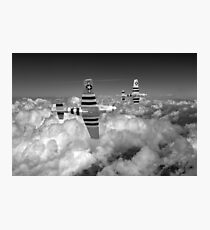 P-51s black and white version Photographic Print