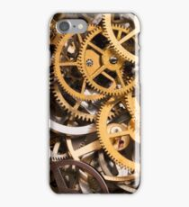 Mix of various gears, abstract technology background iPhone Case/Skin