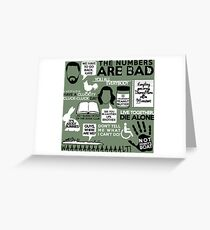 LOST QUOTES Greeting Card