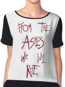 The 100 - from the ashes we will rise - red Chiffon Top