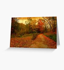 Sauntering into the rusts Greeting Card