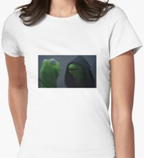 Evil Kermit Meme Womens Fitted T-Shirt
