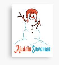 Aladdin Snowman Canvas Print