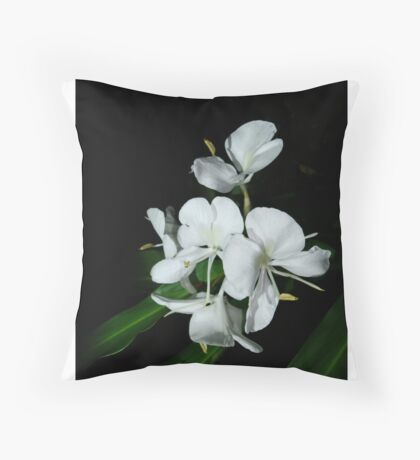 Ginger Lilies at Night Throw Pillow