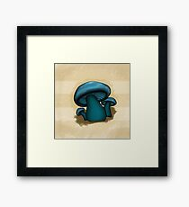 Mushroom Illustrated Differently Framed Print