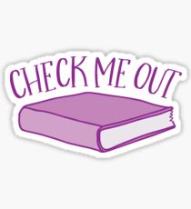 check me out (Library book) Sticker