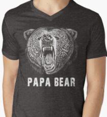 Papa Bear T-shirt Men's V-Neck T-Shirt