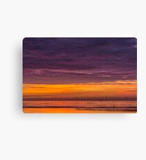 Sunset over the Irish Sea Canvas Print