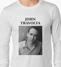 Nicolas Travolta... John Cage... WTF? Long Sleeve T-Shirt