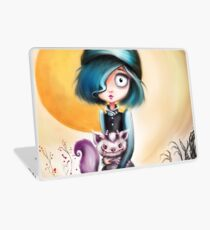 Goth Girl & Creepy Cute Monster Pet Laptop Skin