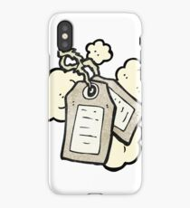old luggage labels cartoon iPhone Case/Skin