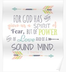 2 Timothy 17 Bible Verse Poster
