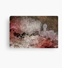 Grunge background with colorful damaged wall. Colors: white, brown, black and brown Canvas Print