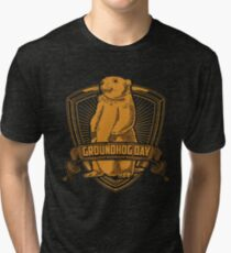 Groundhog Day With Groundhog Tri-blend T-Shirt