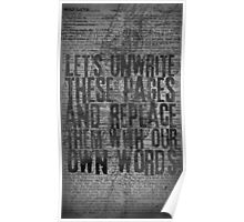 Rise Against - Swing Life Away - Unwrite Poster