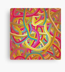 Funny Colorful Design Canvas Print