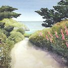 Down the lane to Cwm yr Eglwys Pembrokeshire by Helen Lush