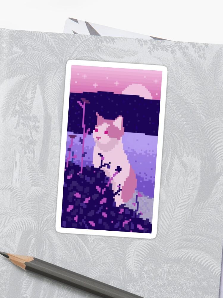Mignon Pixel Art Cat Sticker