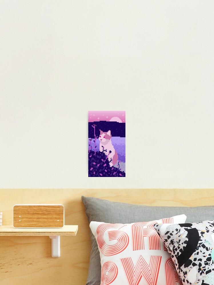 Mignon Pixel Art Cat Impression Photo