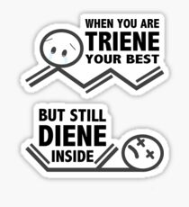 Chemistry Puns Dying Sticker