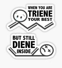 Chemistry Puns Dying Sticker