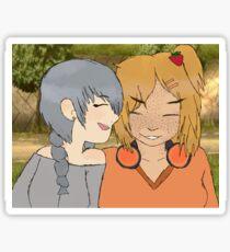 """""""L'amour de la fille est le meilleur"""" Sticker"""
