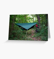 Hammock Campsite in the Mountains Greeting Card