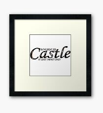 Castle - Not Crazy Framed Print
