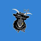 Team BlackSheep PILLOW (blue) by aufmschlauch