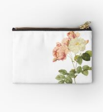 White and pink rose Studio Pouch