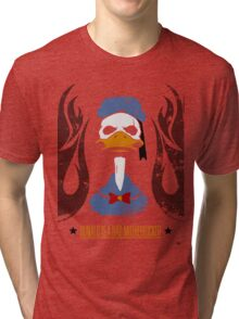 Donald Duck Bad Motherfucker Tri-blend T-Shirt