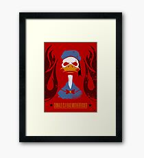 Donald Duck Bad Motherfucker Framed Print