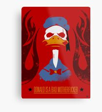 Donald Duck Bad Motherfucker Metal Print