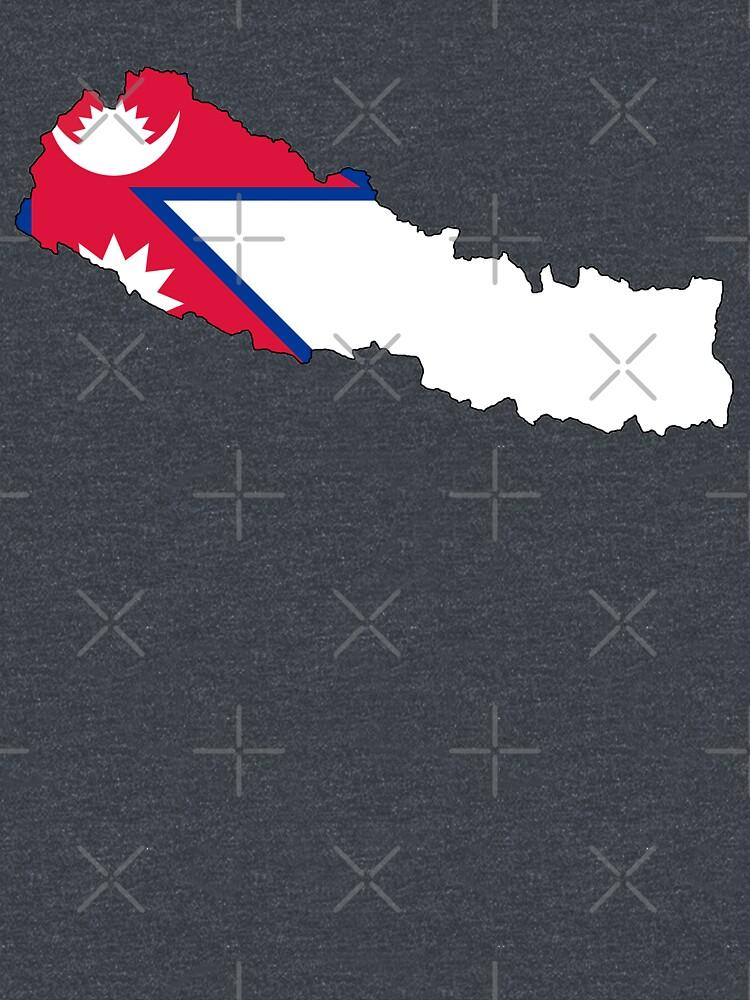 Nepal Flag Map\