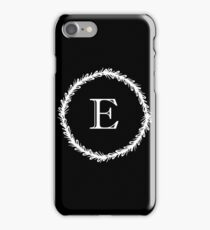 Monochrome Monogram E iPhone Case/Skin