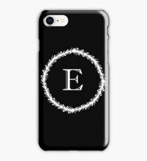 Monochrome Monogram E iPhone Case/Skin
