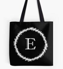 Monochrome Monogram E Tote Bag