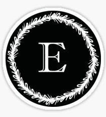 Monochrome Monogram E Sticker