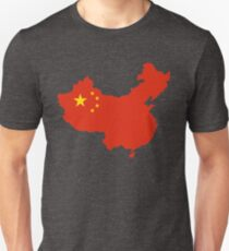 China Flag Map T-Shirt