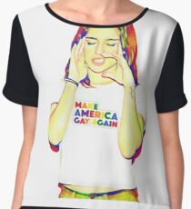make america gay again Women's Chiffon Top