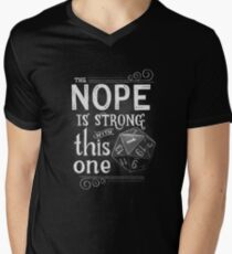 The NOPE is Strong with This One Men's V-Neck T-Shirt