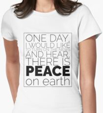 Peace on Earth Black Design T-Shirt