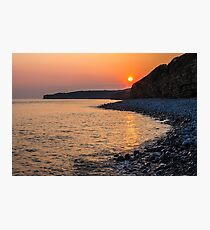 Sunset Special down at Llantwit Major Beach, Wales, UK Photographic Print
