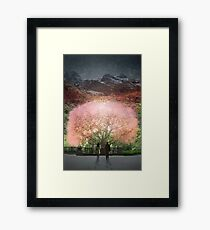 A year went by in a single day Framed Print